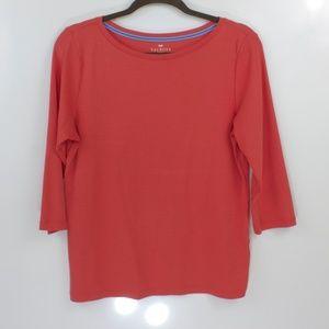 Talbots 3/4 Sleeves Scoop Neck Shirt Size Petite L